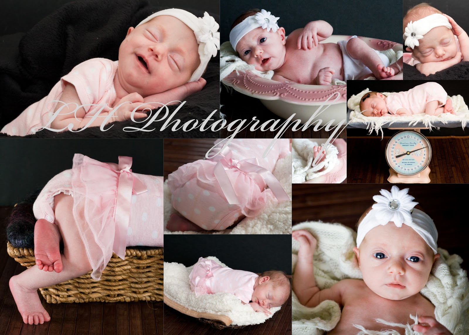 What a newborn photo shoot actually looks like