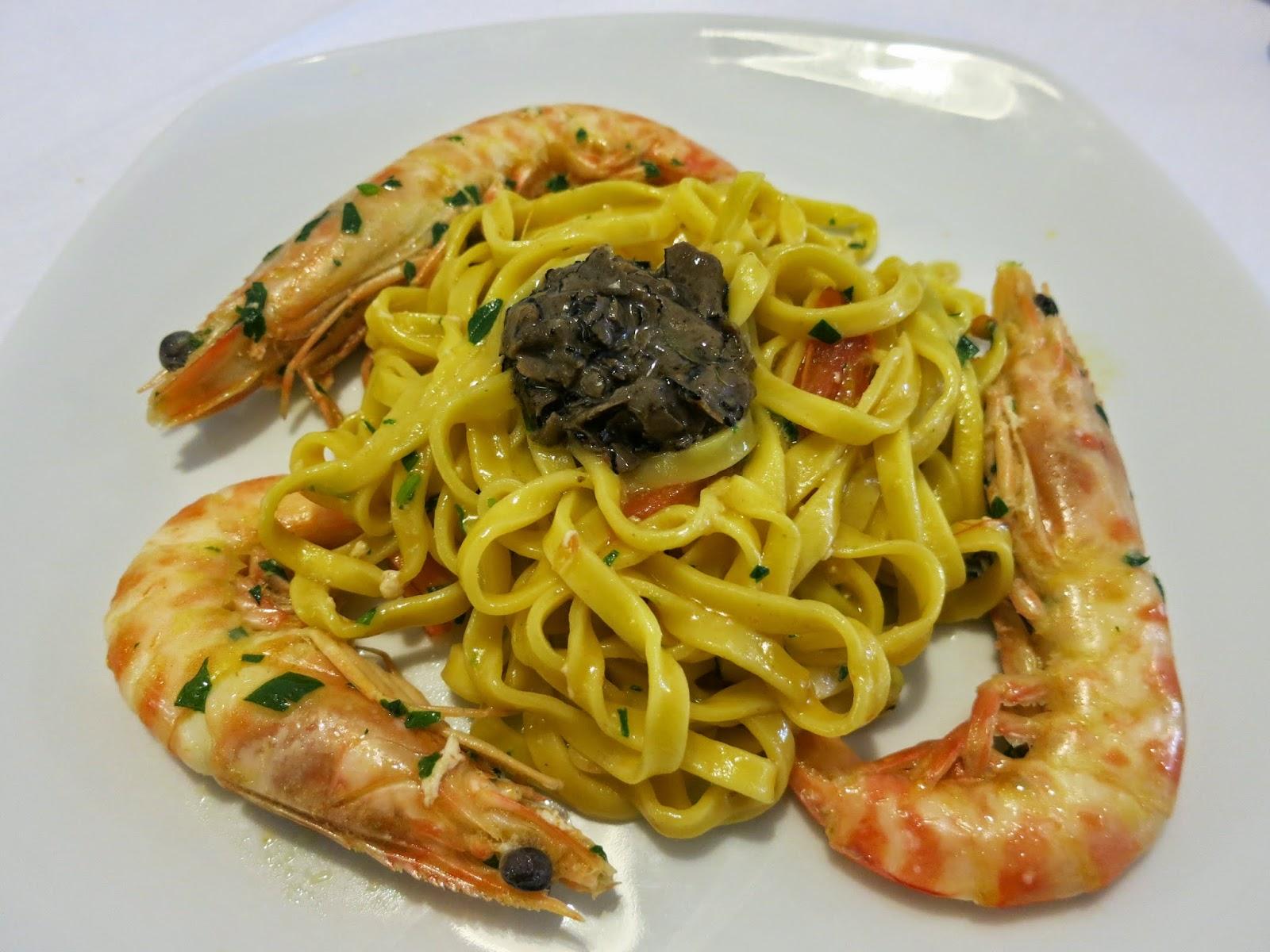 Tagliolini, truffle and shrimp, Il Gambero, Le Grazie, Portovenere