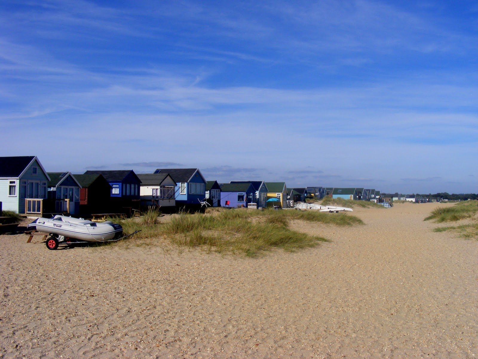 beach huts, domki plażowe