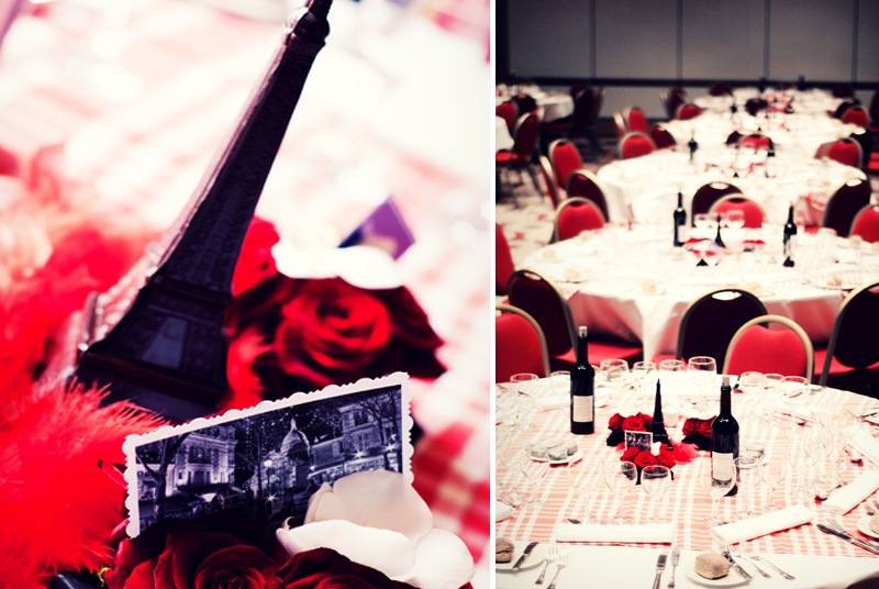 tout eiffel en chocolat table decoration