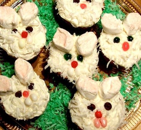 easy easter bunny cupcakes. easter bunny cupcakes