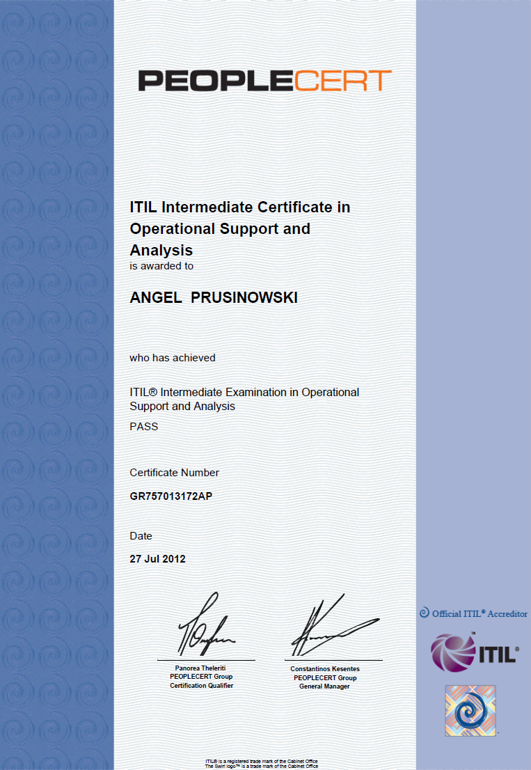 My Itil Service Design Sd Certificate My Itil Life