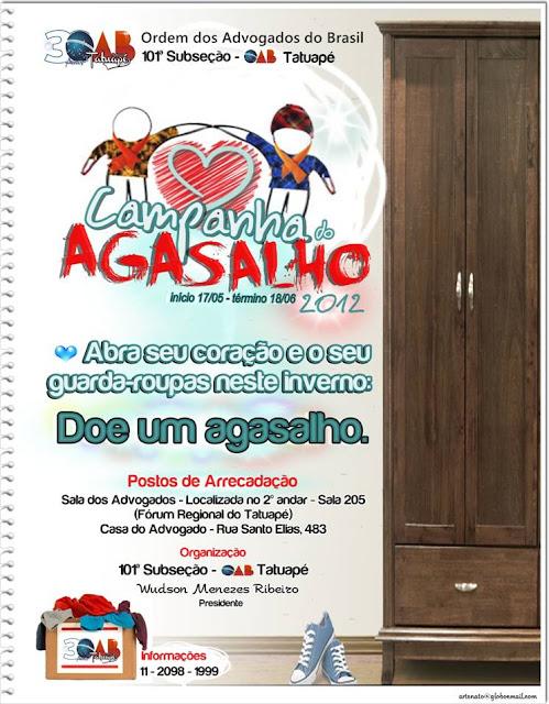 OAB TATUAPE CAMPANHA DO AGASALHO 2012