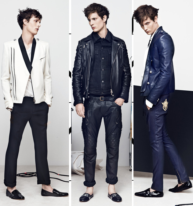 balmain mens spring 2014 leather jackets
