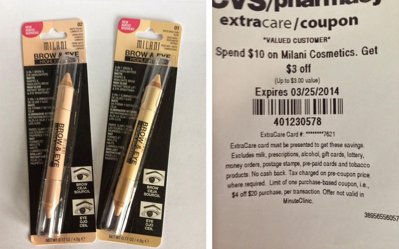 Milani coupons cvs