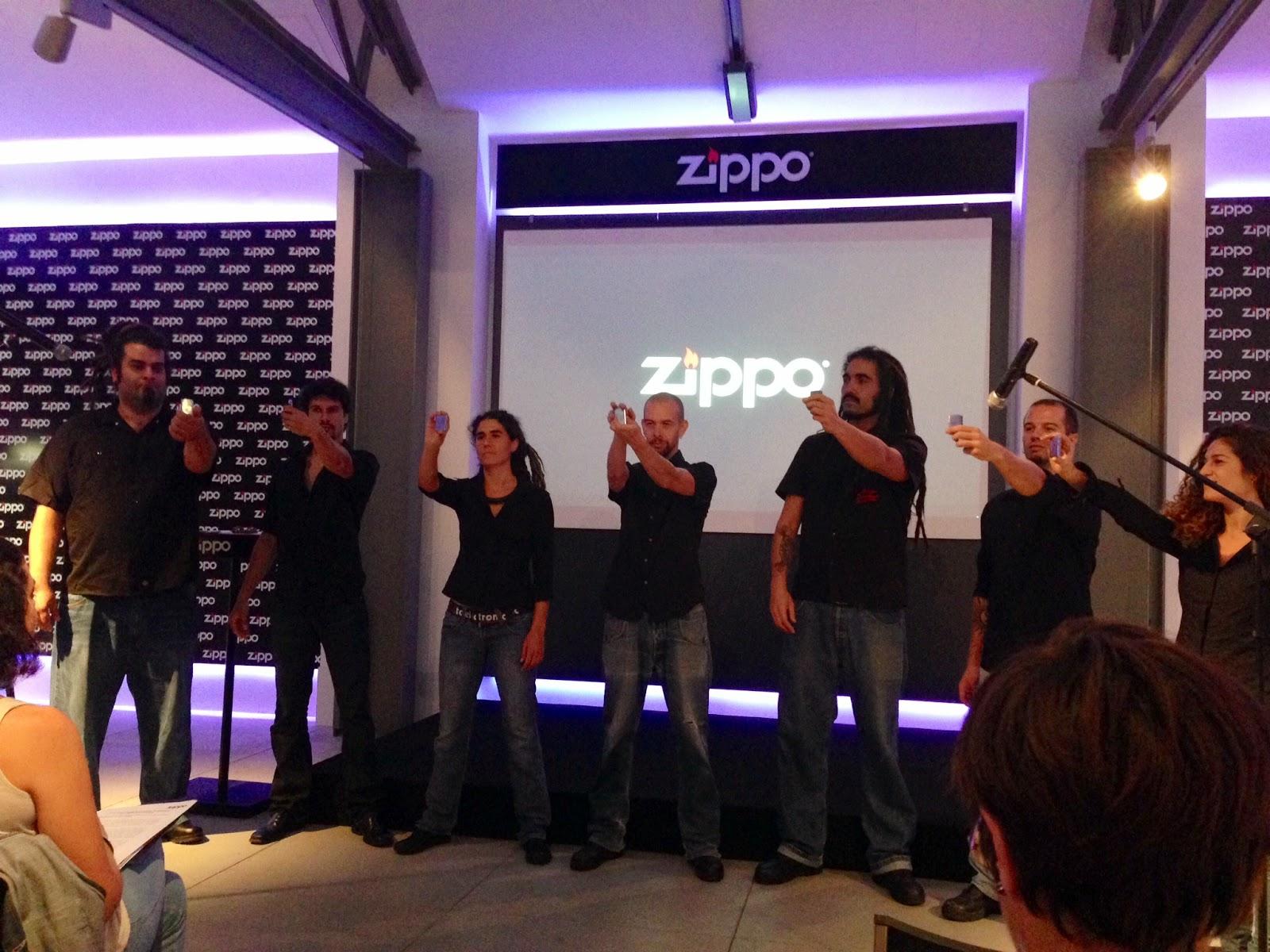 Original inicio de la presentación de Zippo en España