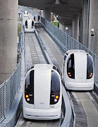 Driverless Electric Cars At Heathrow Airport (electric pods heathrow airport)