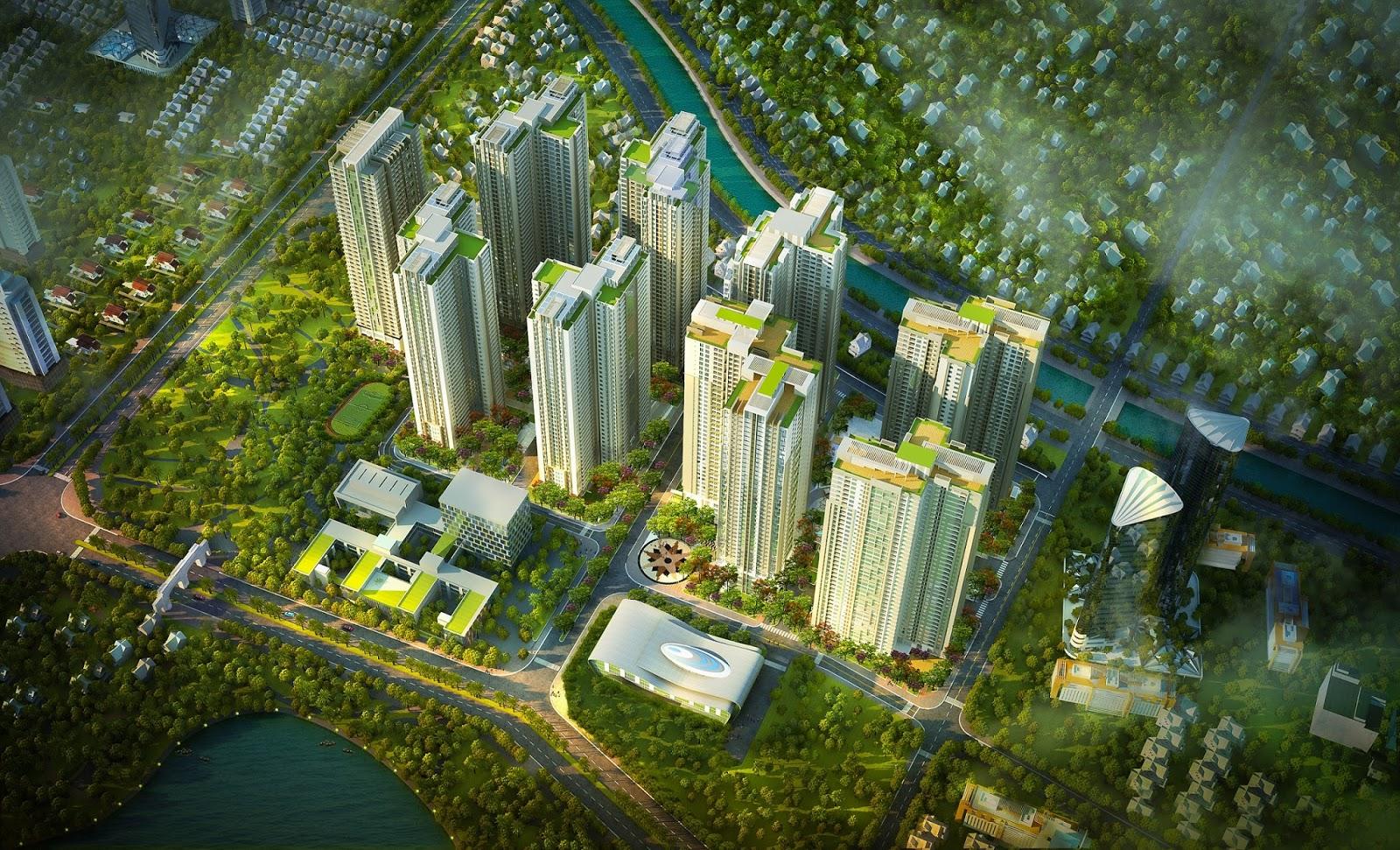 Phối cảnh dự án Goldmark City