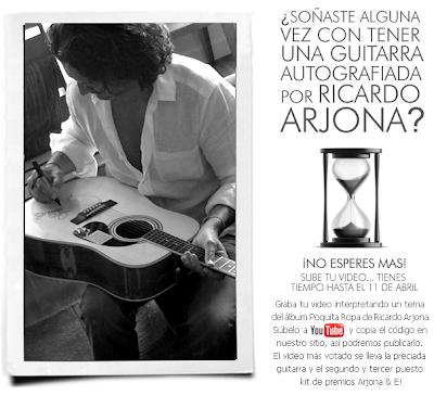 premios guitarra autografiada ricardo arjona E! online latino Mexico 2011