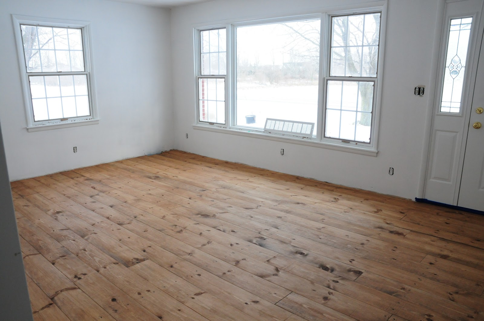 Floors Stained  Minwax Early American