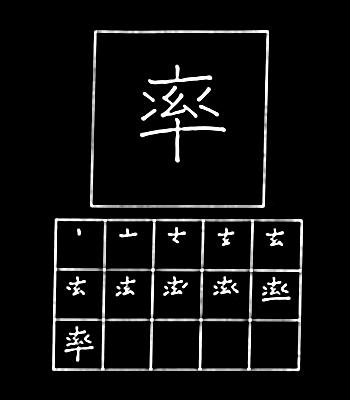 kanji menuntun