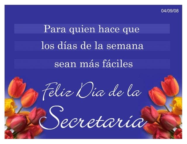 Feliz Día de la Secretaria - 30 de Septiembre - Venezuela