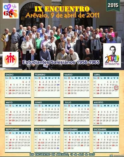 CALENDARIO 2015. E.S.56-65