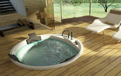 round jetted tub