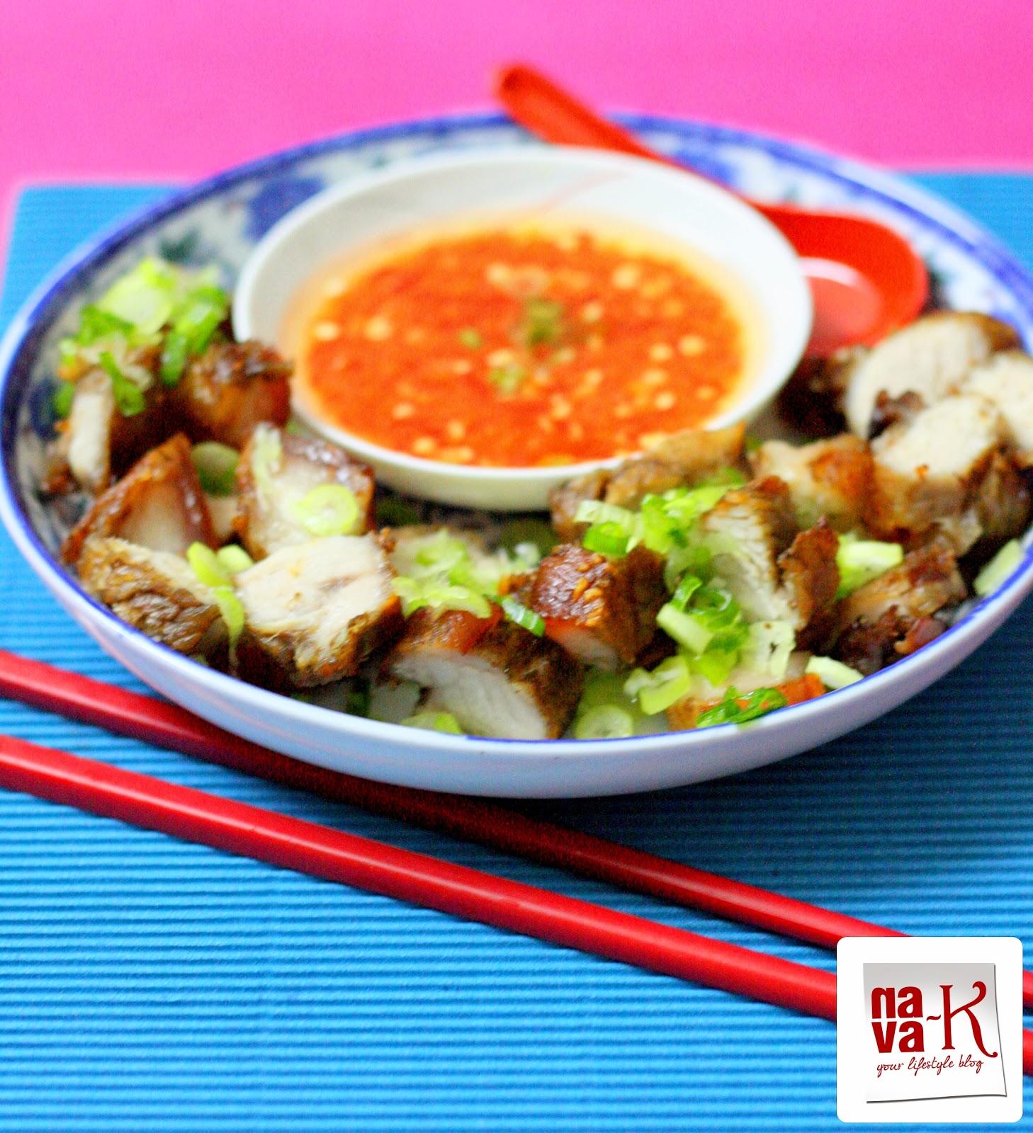 nava-k: Siew Yoke (Chinese Roast Pork) With Chili Ginger Dip
