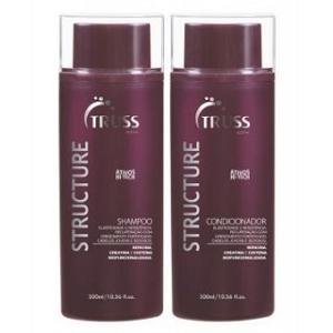 Amostras Truss cosmetics - Produtos capilares Truss Active Structure AMOSTRAS-truss-active-structure-shampoo-e-condicionador-