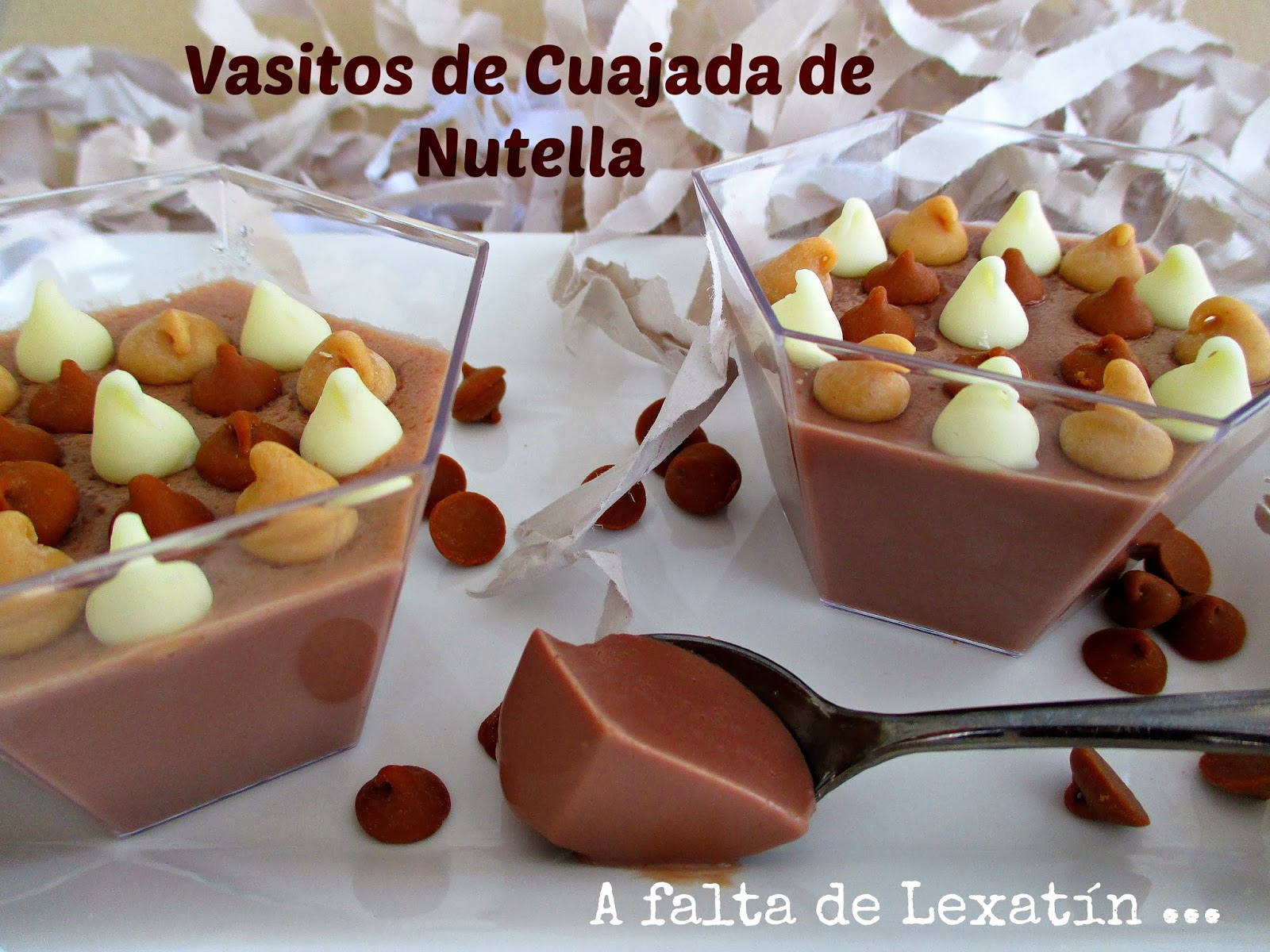 Vasitos de cuajada de Nutella