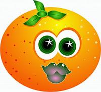 laranja desenho colorido