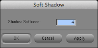 Adding soft drop-shadows to titles in the Avid Media Composer editing system.