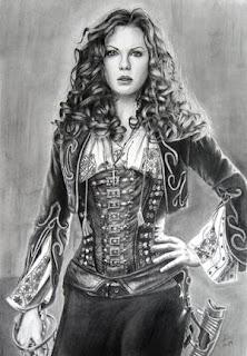 Dibujos a lápiz de mujeres famosas.