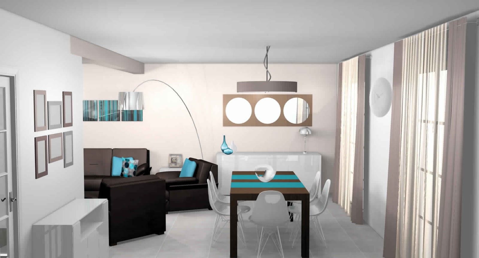 Maison moderne blanche for Salle a manger blanche