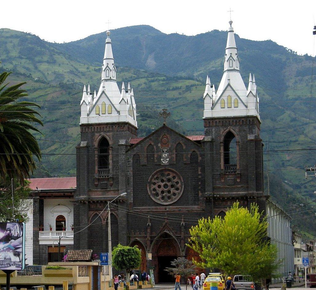 Imagenes De Baños Ambato:Santuario de Nuestra Señora del Rosario de Agua Santa