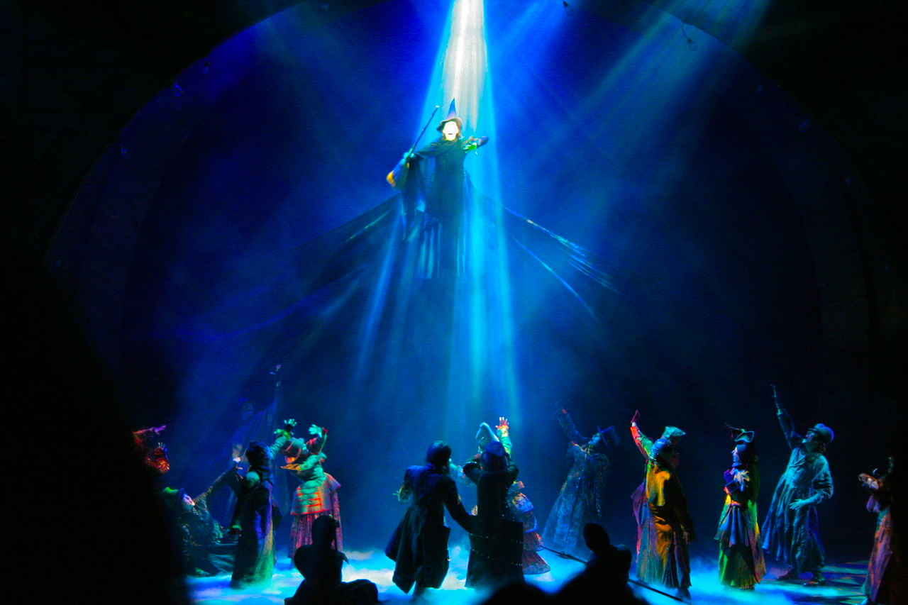 Idina Menzel As The Wicked, Green Witch Elphaba Defying Gravity
