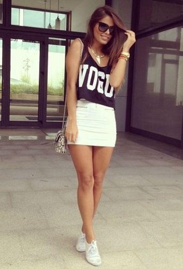 Outfits con zapatillas blancas