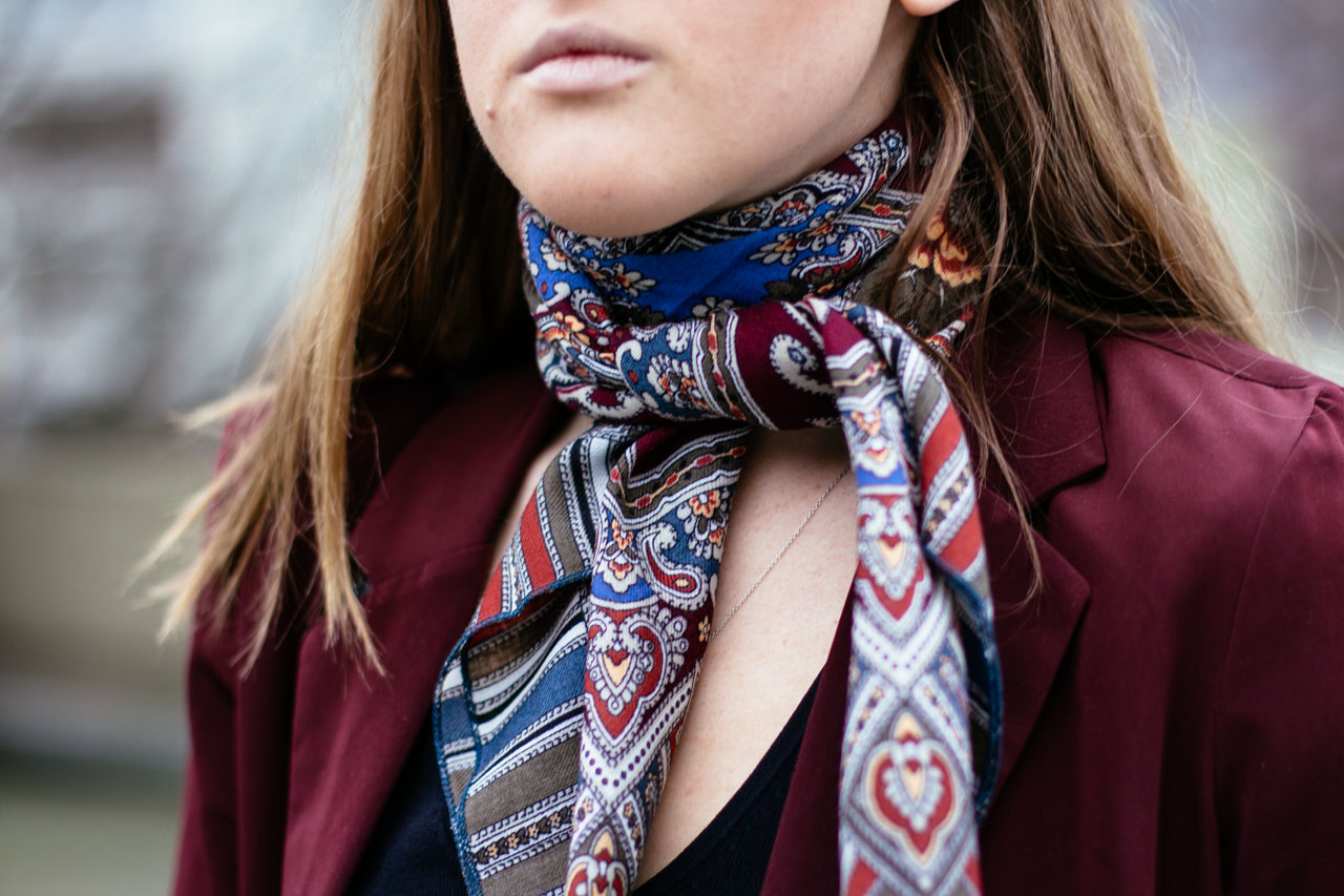 new in - Florussie scarf - Vancouver Fashion and style blogger