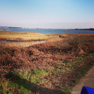 View from Hengistbury Head over Christchurch Harbour