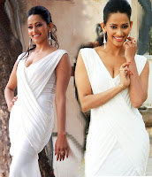 Sanjana, Singh, Hot, Bollywood, Actress, Photoshoot, deep cleavage, white dress