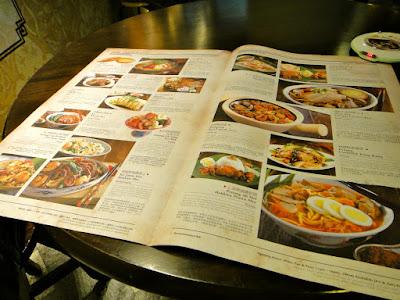 Food Menu at Malaysian Food Street Resorts World Sentosa
