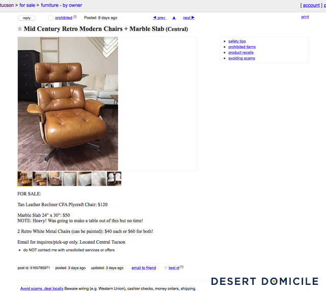 """Conquering Craigslist The Story of My Plycraft """"Eames"""" Lounge Chai"""