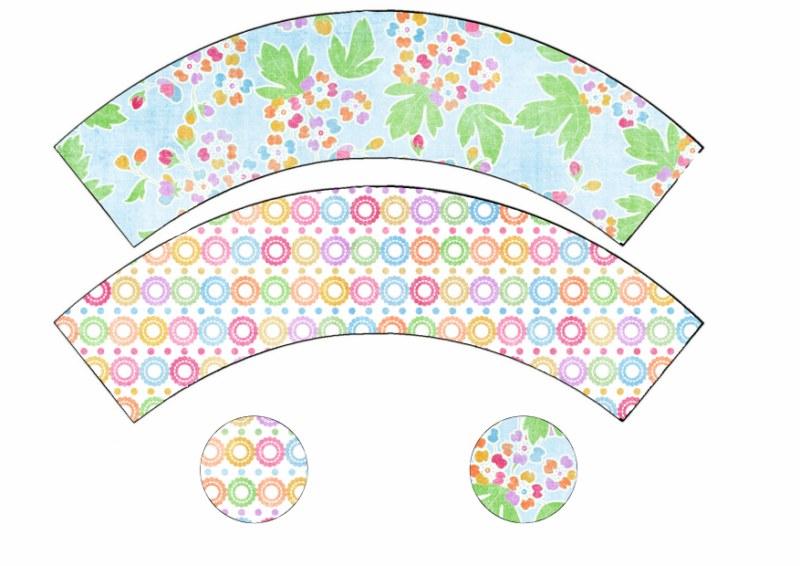 Cupcakes primaverales y cómo hacer wrappers y toppers caseros ...