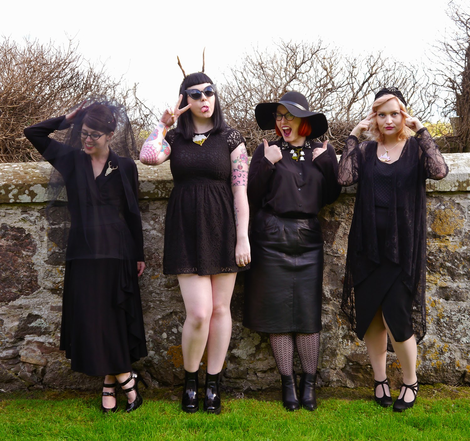 Wardrobe Conversations, blogging duo, scottish bloggers, #scotstreetstyle, halloween, fashion film, lookbook. Coven, behind the scenes, North East Scotland, Runaway Fox