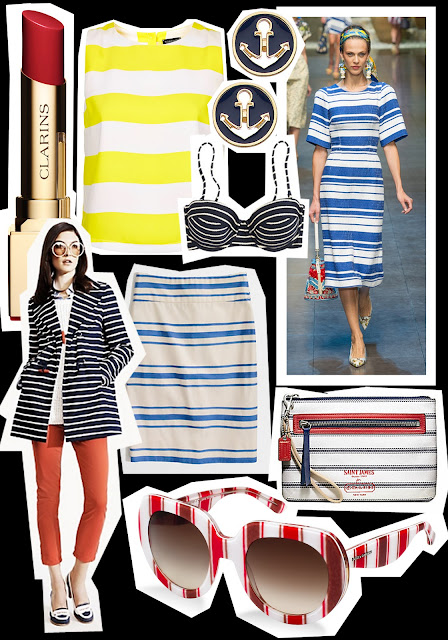 SAIL AWAY with this season's nautical trend STYLED, Dolce & Gabbana stripe dress, by Jessica Moazami aka Fashion Junkie