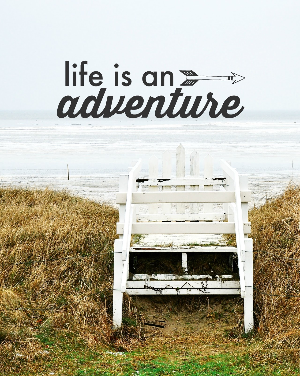 life is an adventure // word art print made in picmonkey