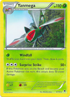 Yanmega Phantom Forces Pokemon Card