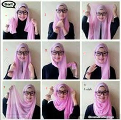 Tutorial Hijab Segi Empat Sifon Paling Baru