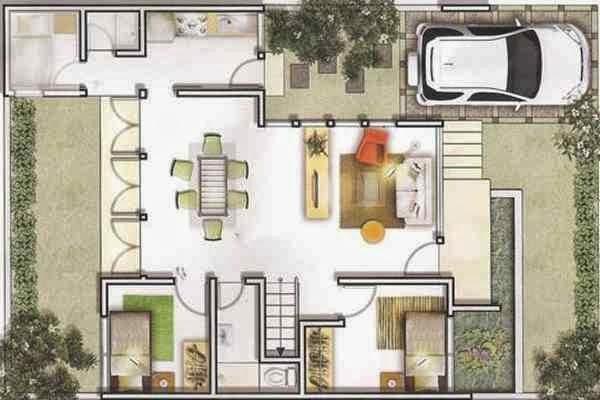 Galeri ide Denah Rumah Minimalis Type 36 1 Lantai 2 Kamar Tidur 2015 yg bagus