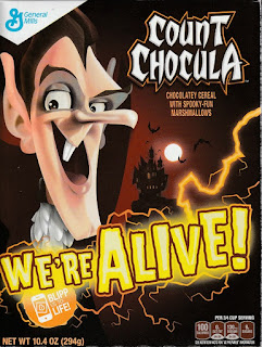 Front of Count Chocula 2015 box