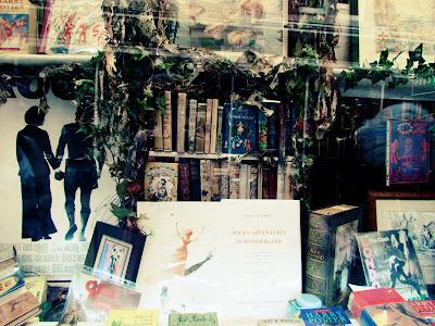 books, bookshop, Cecil Court, London, vintage, Alice Through the Looking Glass, visit