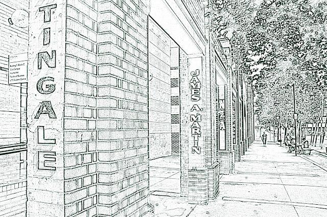 University Of Technology Sydney, Columns, Sketch Photocopy Photoshop Effect Applied