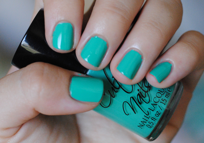 Cult Nails Riot swatch and review, teal nail polish