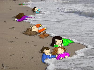 Cartoon Aylan Kurdi Menino Sírio