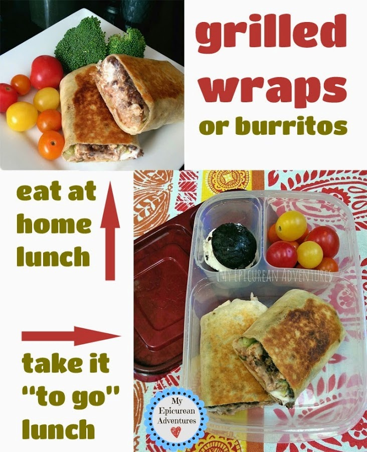 My Epicurean Adventures: Grilled Wraps or Burritos in @easylunchboxes
