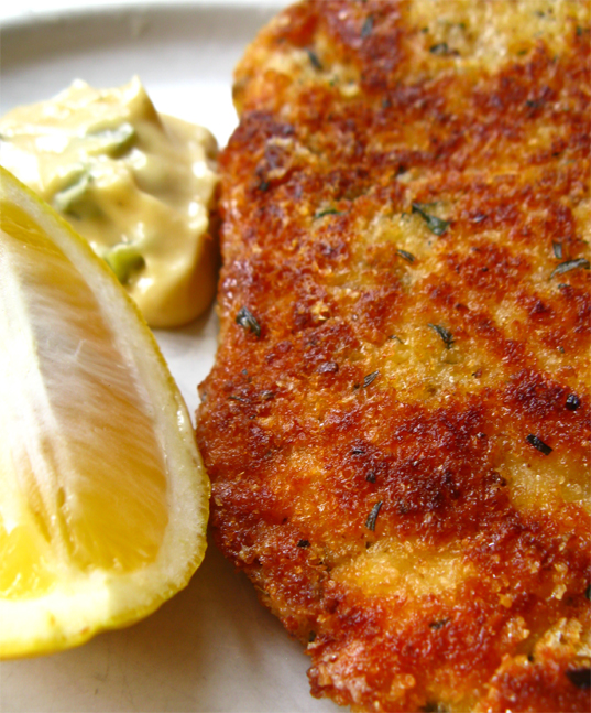 Chicken Schnitzel : Parmesan Tarragon
