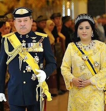 Sultan dan Sultanah Johor Darul Ta'zim.