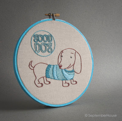 dachshund embroidery pattern for hand embroidery
