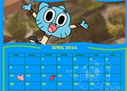 Gumball y amigos en crea tu calendario